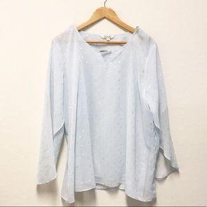 Kraft Kat chiffon blouse XL